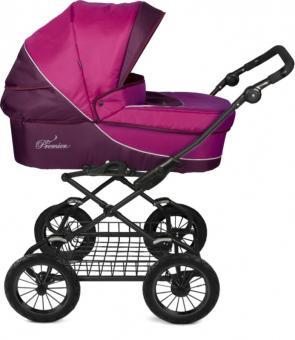 Детская коляска модульная Deltim Premier (Дельтим Премьер) розовый 421/422