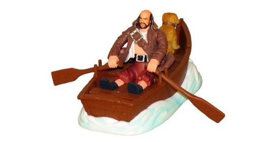 Игровой набор Пираты карибского моря 2 (Джек воробей и гроб,Пинтель,тюремный пес и лодка)