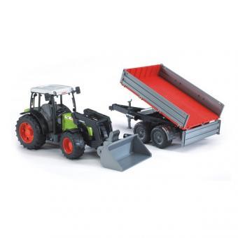Трактор Claas Nectis 267 F с погрузчиком и прицепом