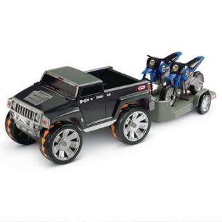"Little Tikes  Игрушка набор машин ""Hummer H3T + мотоцикл"""