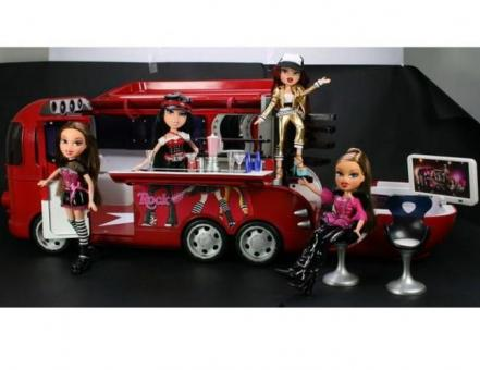 "Кукла Братц ""В стиле рок"" с туристическим автобусом"