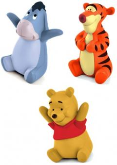 Винни и его друзья - набор из 3-х фигурок