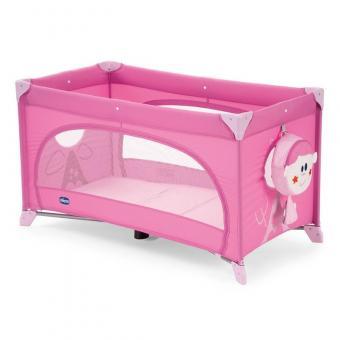 Манеж-кроватка для детей Chicco Easy Sleep розовый Pink