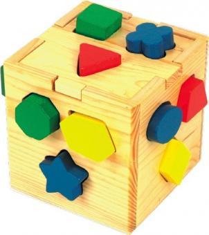 Сортер Логический кубик (дерево)