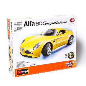 Машина СБОРКА ALFA 8C COMPETIZIONE (2007) металл. в закрытой упаковке 1:18