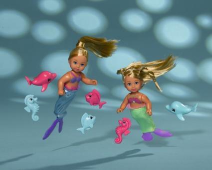Кукла Mermaid Friends Еви Русалочка с морским коньком, рыбкой и дельфином, 2 вида