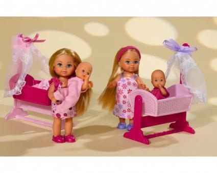 Кукла Еви и малыш в колыбельке Doll Cradle, 2 вида