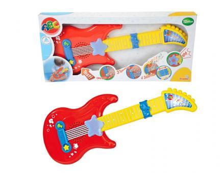 Музыкальная гитара на батарейках, свет, звук, 43,5 см