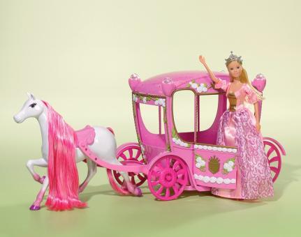 Кукла Штеффи в сказочной карете + 4 кольца, 29 см/60 см