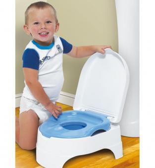 Горшок + стульчик-подножка Summer Infant (2 в 1) голубой