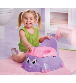 Детский горшок в виде динозавра, розовый