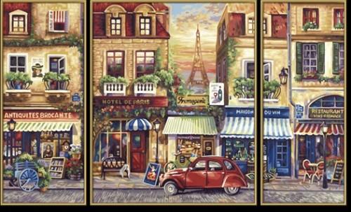 Раскраска по номерам. Триптих Париж 50*80 см