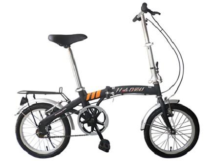 """Велосипед детский складной IMPULSE 20"""" черный"""