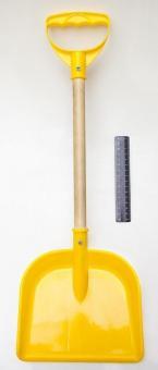 Лопата пластм. с деревянной ручкой 48 см.