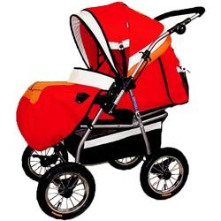 Детская коляска-трансформер Deltim Voyager (Дельтим вояджер) с люлькой, цвет розовый 269/290/291