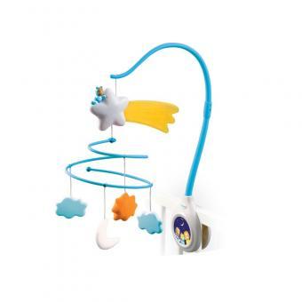 Музыкальная  каруселька мобиль на кроватку, со световыми эффектами, 2 вида