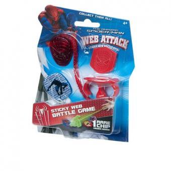 Набор липкая паутина Человек-паук, 1 липучка + 2фишки, 12 видов