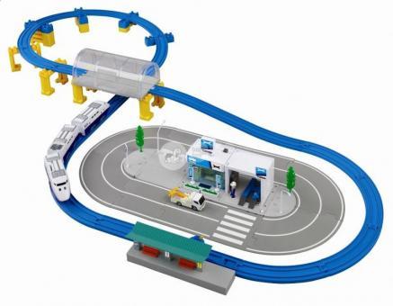 Tomica Набор Big City Set (ж/д, трасса, поезд, ж/д станция, мастерская, машина, фигурка)
