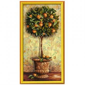 Раскраска по номерам. Апельсиновое дерево, 40*80 см.