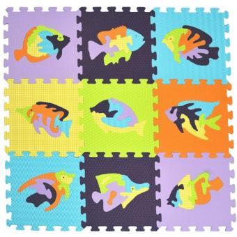 Мягкий коврик - пазл Мозаика с рыбами