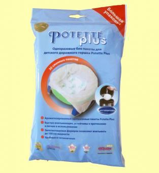 Упаковка из 30-ти одноразовых пакетов Potette Plus (для складного дорожного горшка)