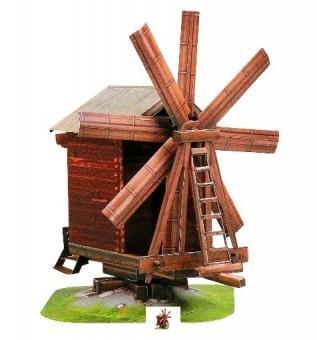 Набор для творчества из картона Средневековый город: Ветряная Мельница