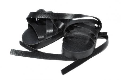 Обувь для кукол 32 см, Сандалии черные