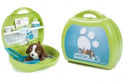 Набор ветеринара в чемоданчике + собачка/кошка