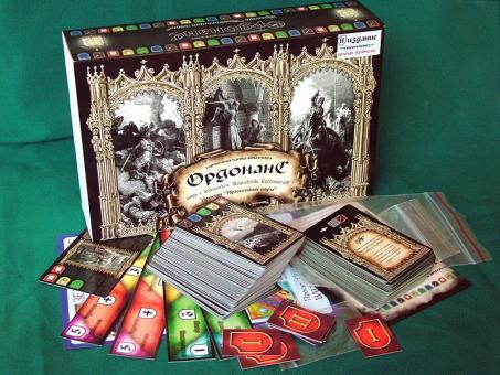 Настольная карточная игра Ордонанс (The Kingdoms of Crusaders) подарочный набор для 4-х игроков