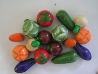 Счетный материал Овощи крашенные набор 16 шт.