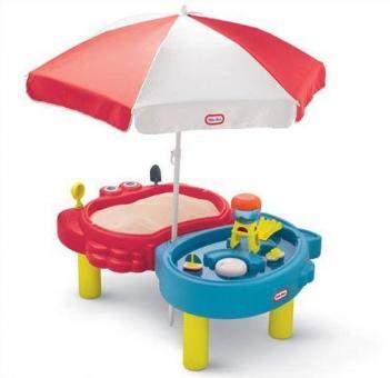 Стол-песочница с зонтом