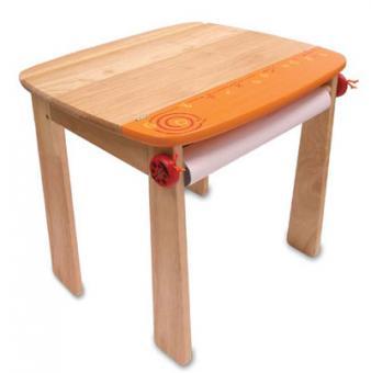 Стол  для рисования ( оранжевый), дерево