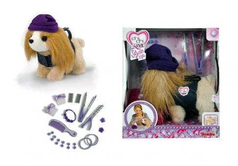 Chi-Chi Love Собака Гаванская болонка в одежде + акскссуары для волос, 20 см