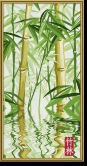 Раскраска по номерам.Бамбуковый лес, 40х80 см