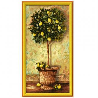 Раскраска по номерам. Лимонное дерево, 40*80 см.