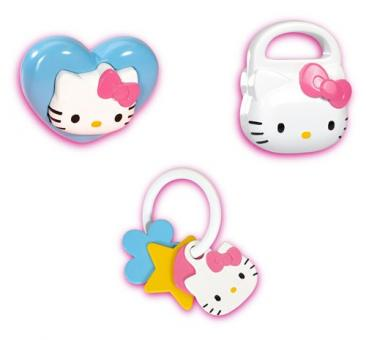 Набор из трех погремушек Hello Kitty