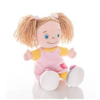 AURORA Игрушка мягкая Кукла девочка 25 см в розовом платье