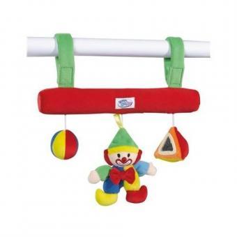 Мягкая подвеска на коляску Клоун