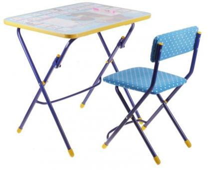 Комплект Стол и стул синий КУ1 Познаем мир