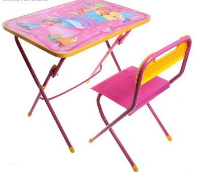 Комплект Стол и стул розовый КУ1 Маленькая принцесса