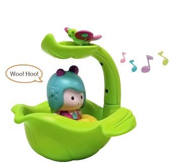 Листочек/фонтан, интерактивная игрушка для ванной Мими
