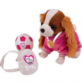 Chi-Chi Love Кокер-спаниель плюшевая собачка, с рюкзаком, медалью и мячиком, 20 см