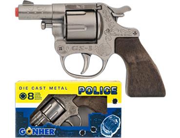 Револьвер Police, 8 пистонов, металл