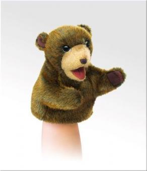 Мягкая игрушка на руку Коричневый медвежонок, 18см