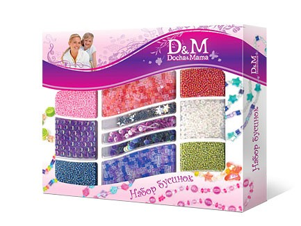 D&M Набор бисера Цветной