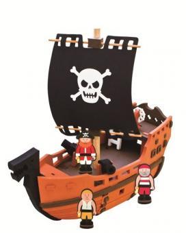 Конструктор Bebox  Пиратский корабль, 41 деталь