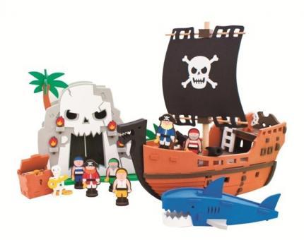 Конструктор Bebox  Приключения пиратов, 124 детали