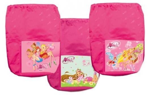 Мешок для обуви Winx розовый с карманом