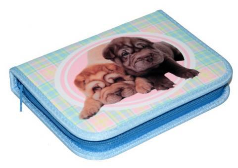 Пенал Животные, 1 отд, ткань, 13*19см