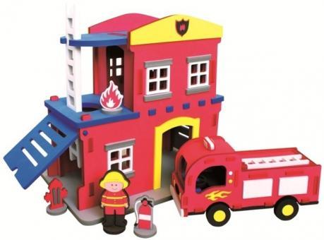 Конструктор Bebox Пожарная станция, 124 детали
